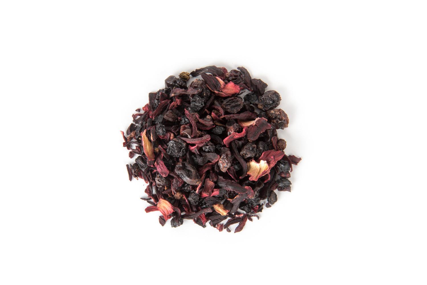 Organinė uogų ir vaisių gabaliukų arbata