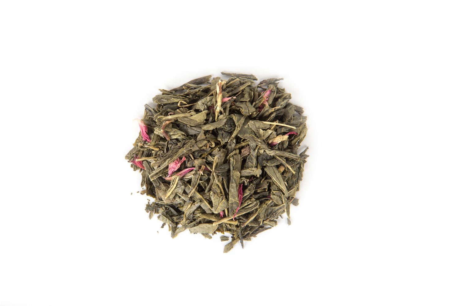 Organinė žalioji arbata su raudonaisiais serbentais
