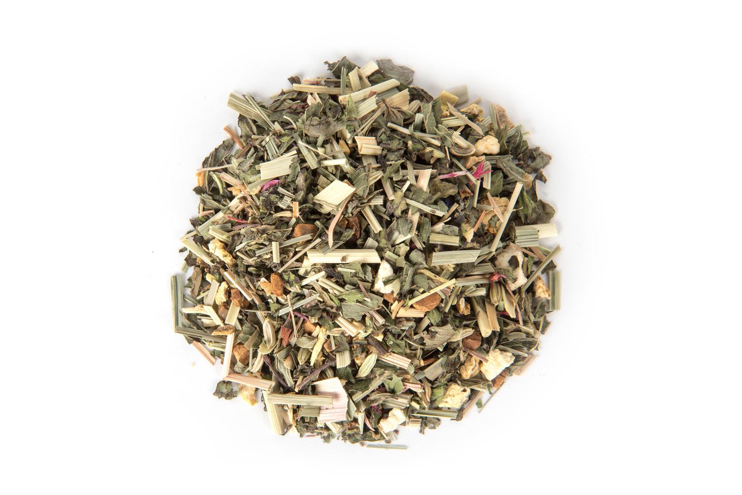 Organinė žolelių arbata su ryškiu mėtų skoniu