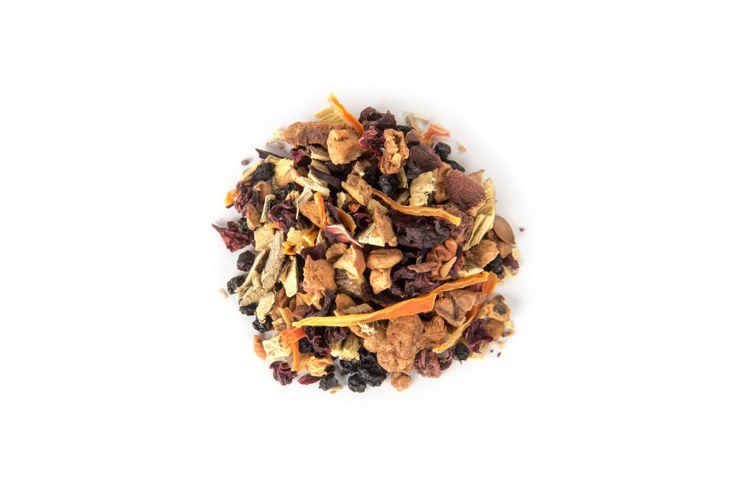 Organinė žolelių arbata su saldymedžiu ir gaivinančiu uogų skoniu