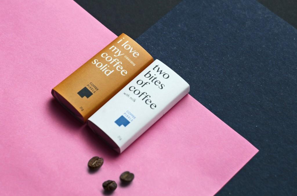 Coffee Pixels gamina valgomus kavos užkandukus!
