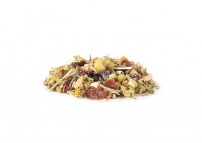 Organinis žolelių ir vaisių gabaliukų mišinys su vanilės, ramunėlių ir apelsinų skoniu