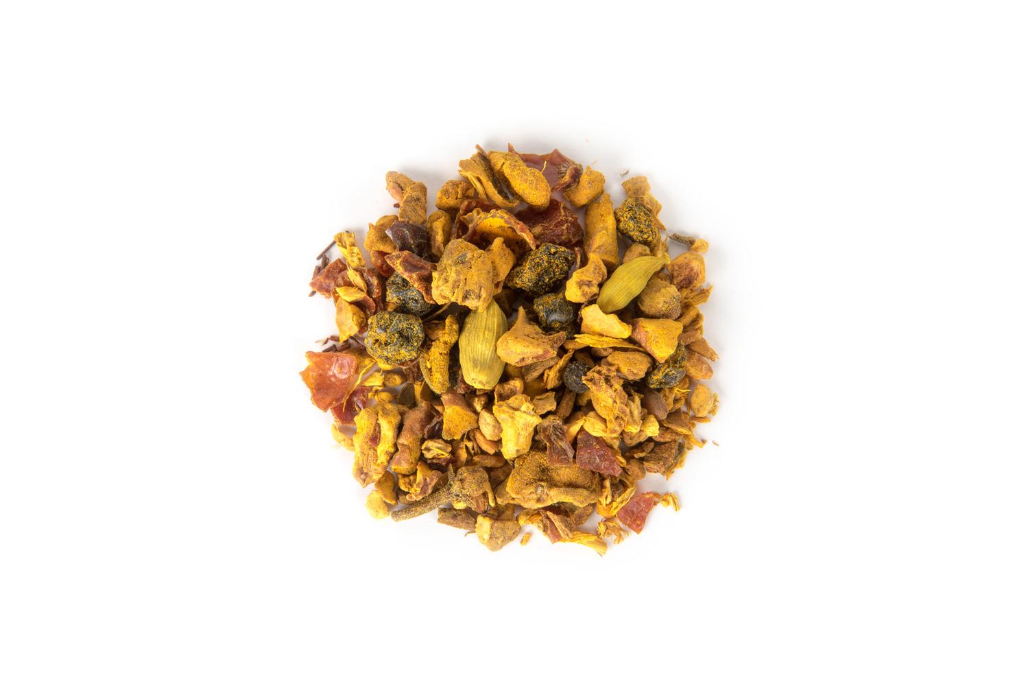 Organinis žolelių, vaisių gabaliukų ir prieskonių mišinys su moliūgų skoniu
